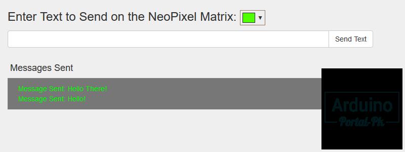 ESP8266 ESP-01 светодиодная матрица  Выводим текст через web-интерфейс